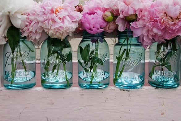 diy flower arrangement jar