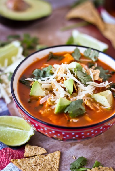 Classic Mexican Tortilla Soup - A Beautiful Plate