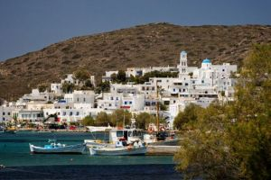Adamas village on Milos, Cyclades, Greece