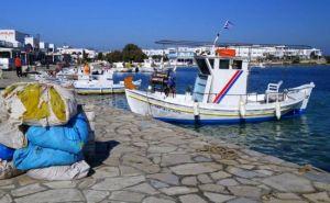 Antiparos harbor Greece