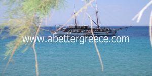 beaches on Aegina in Greece
