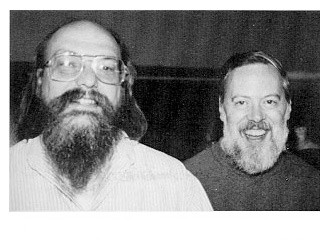 Ken Thompson (L)and Dennis Ritchie(R) ,creators of UNIX.