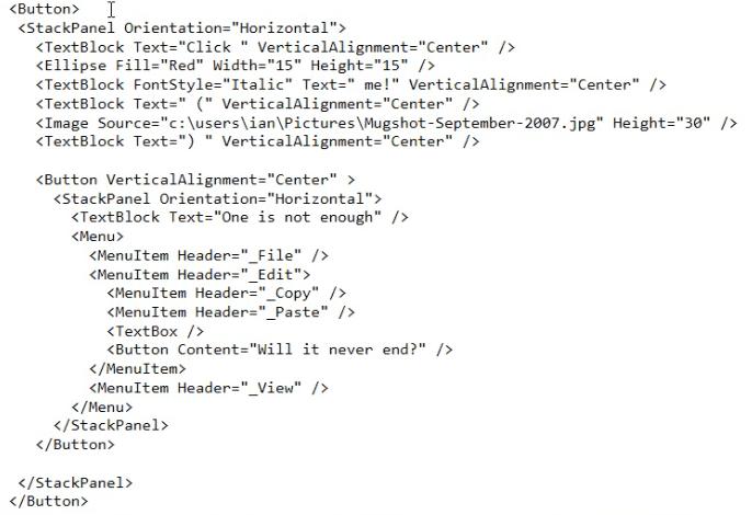 Content Model WPF