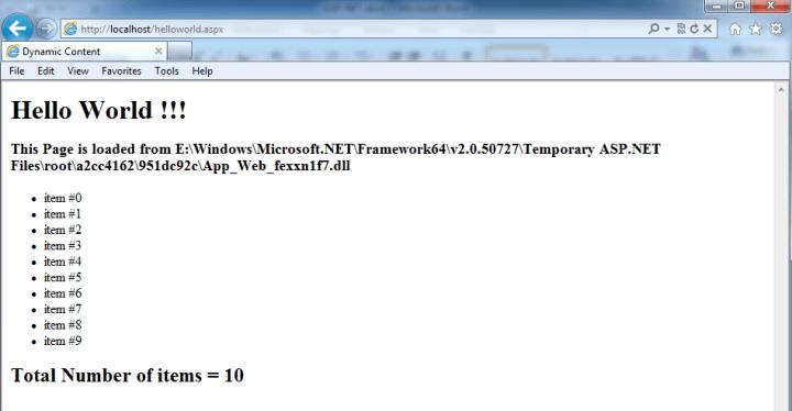 ASP.NET Server Side Script