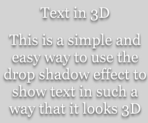 3D Text In CSS