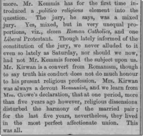 London Evening Standard January 4 1853 Religious makeup of the jury copyright British Newspaper Archive