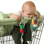 Leachco shopping cart carrier with pillows for unstable sitters - rail cover