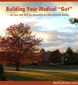 building your medical gut