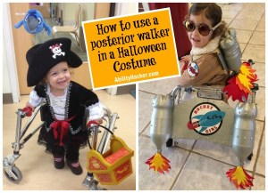 How to use a posterior walker in a halloween costume