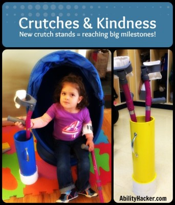 Crutches & Kindness - new crutch stands lead to big milestones