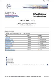 Rapport rfc2544