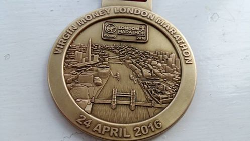 pic of London Marathon medal
