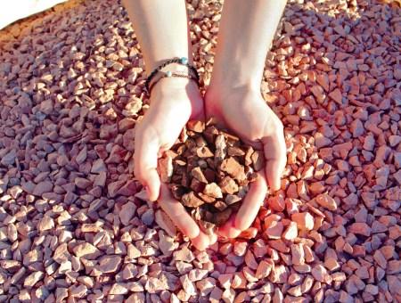 Marmolina triturada roja