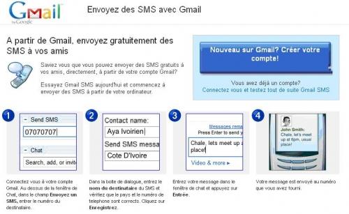 Comment envoyer des SMS gratuits vers les mobiles en Côte d' Ivoire
