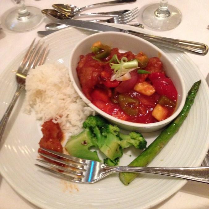 vegan soy chicken on royal caribbean cruise