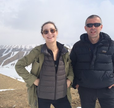 On top of a mountain in the Hindu Kush with Xavier, a French YUMM who specialized in Islamic art.