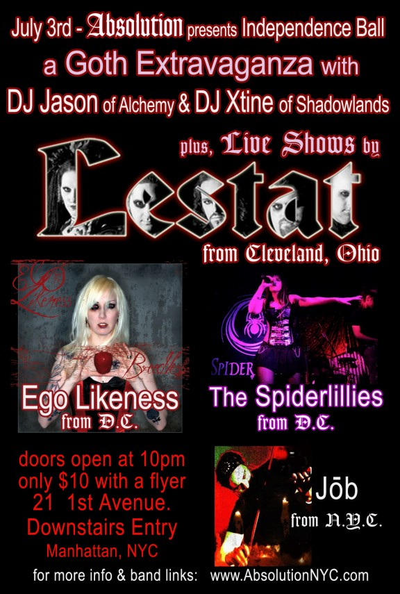 Lestat Ego Likeness The Spiderlillies Absolution DJ Jason