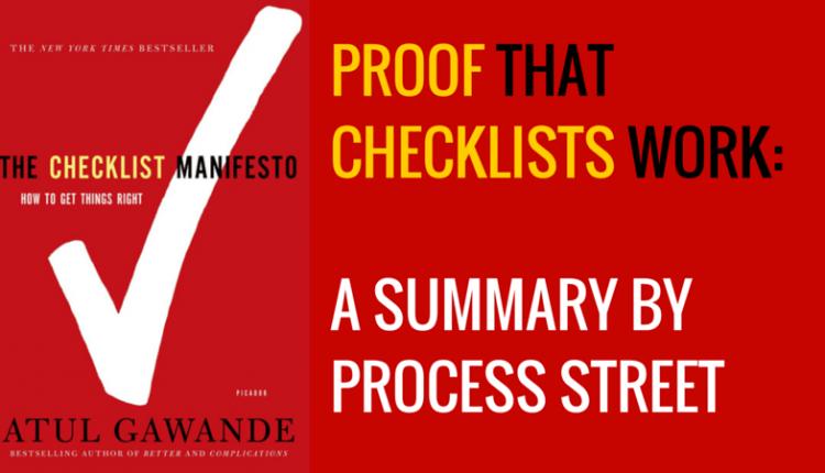 A Short Summary of The Checklist Manifesto