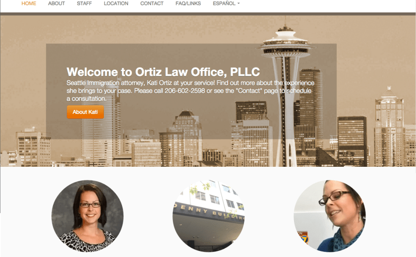 Ortiz Law Office: WordPress website