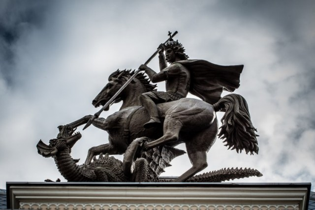Baal arches scheduled for New York City and London, England — CANCELLED St-george-kills-dragon