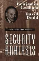 Portada del libro Security Analysis de Benjamin Graham y David Dodd