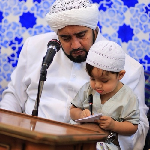 Foto Habib Syech dengan anak buah hati