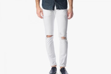 white trousers and jeans
