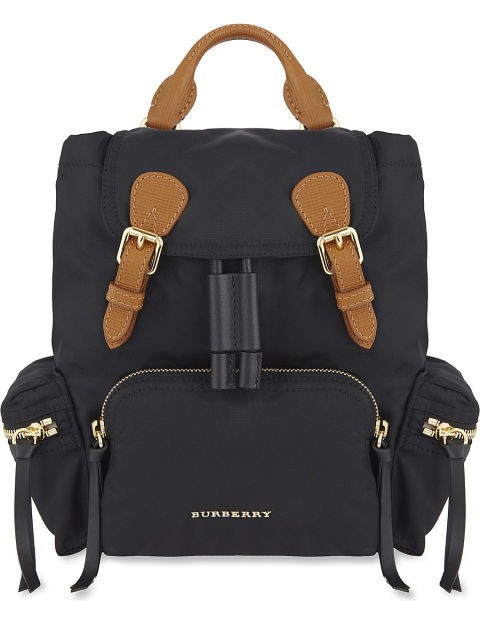 Burberry The small Ruckscak in Technical Nylon and Leather