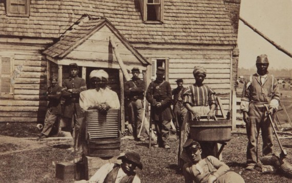 Escaped Slaved at the headquarters of General Lafayette