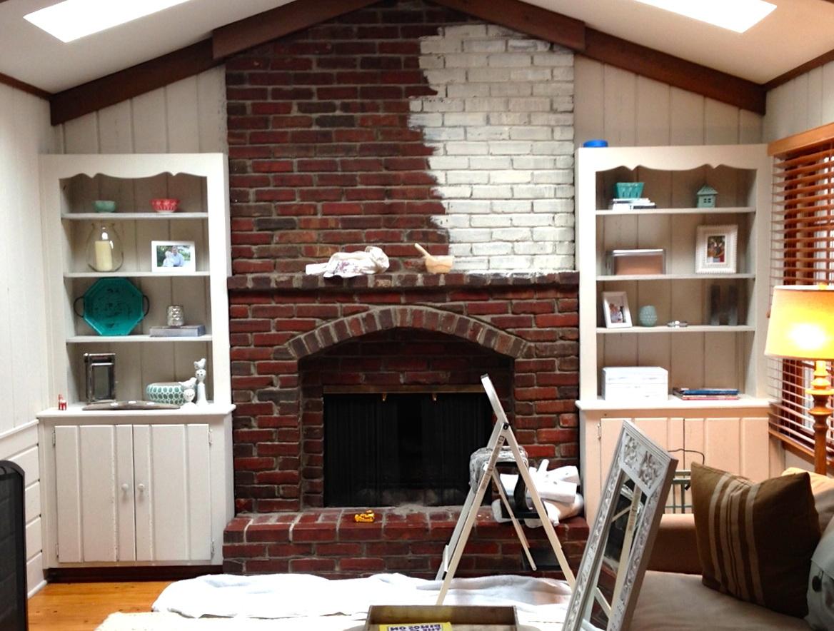 Fullsize Of Whitewash Brick Fireplace
