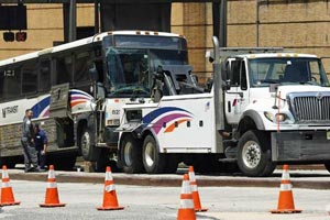 Thirty-One Injured in Two-Bus Collision in Lincoln Tunnel