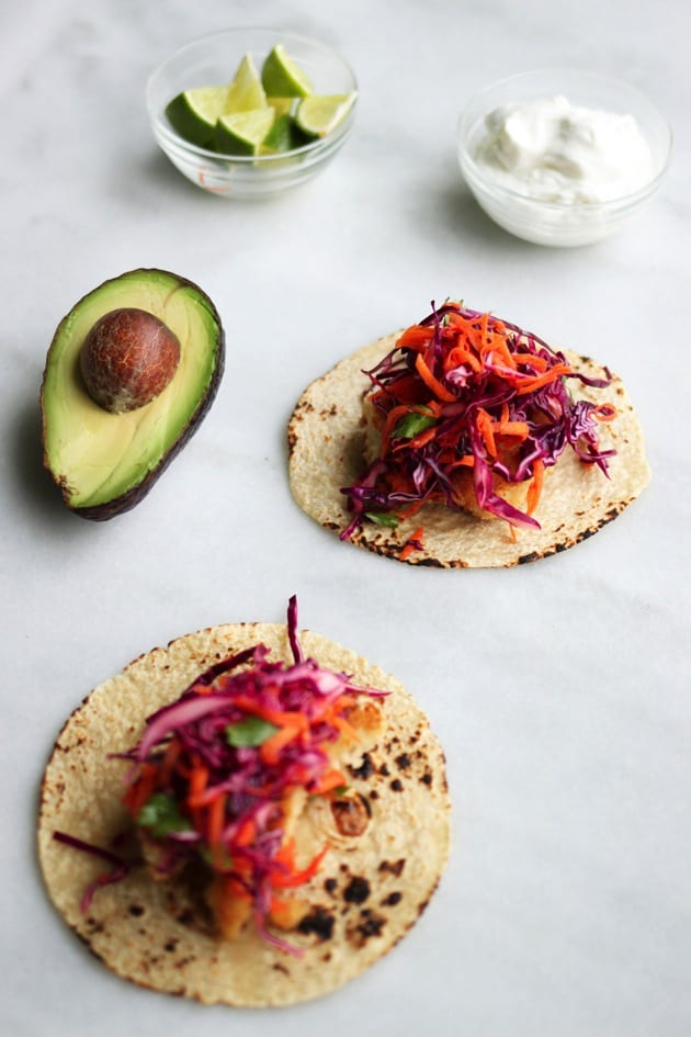 Easy Fish Tacos with Red Cabbage Slaw2