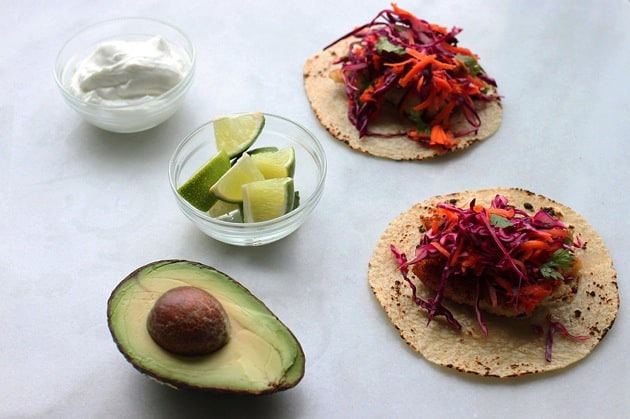 Easy Fish Tacos with Red Cabbage Slaw5