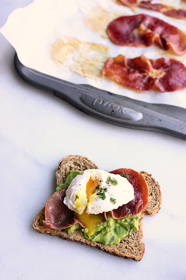 Poached Egg + Crispy Prosciutto Avocado Toast2