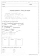 Prova diagnóstica de português - 2º ano
