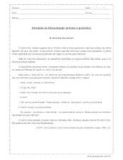 interpretação-de-texto-e-gramática 4º ano