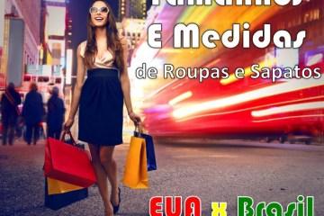 tamanhos, medidas, roupas, sapatos, brasil, ela, estados unidos,