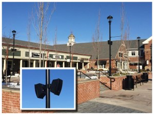 Outdoor Bose Speakers at Woodbury Commons