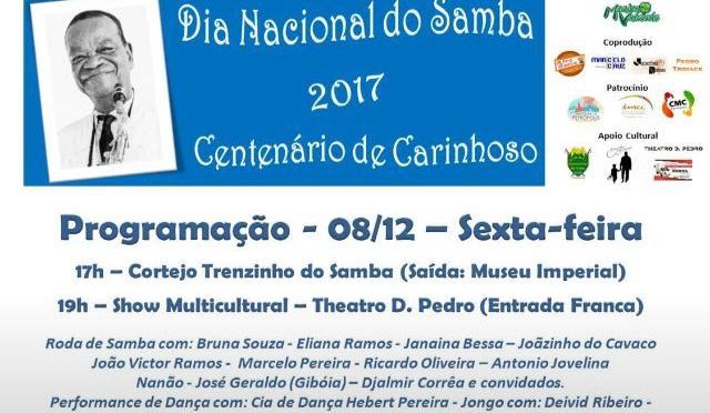 Evento em Petrópolis homenageia o samba e o centenário de Carinhoso