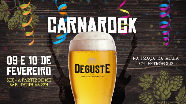 Deguste terá CarnaRock na sexta e sábado de Carnaval em Petrópolis