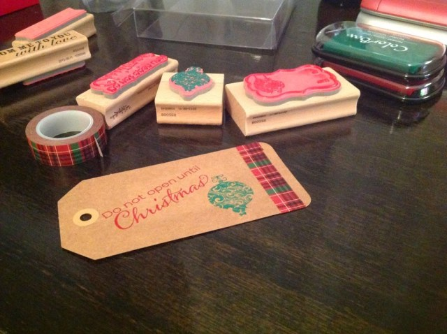 card stock gift tags