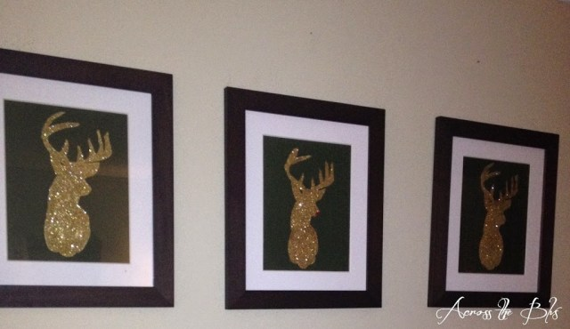 Glittered Reindeer Wall Art