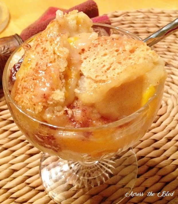 Easy Peach Cobbler Across the Blvd
