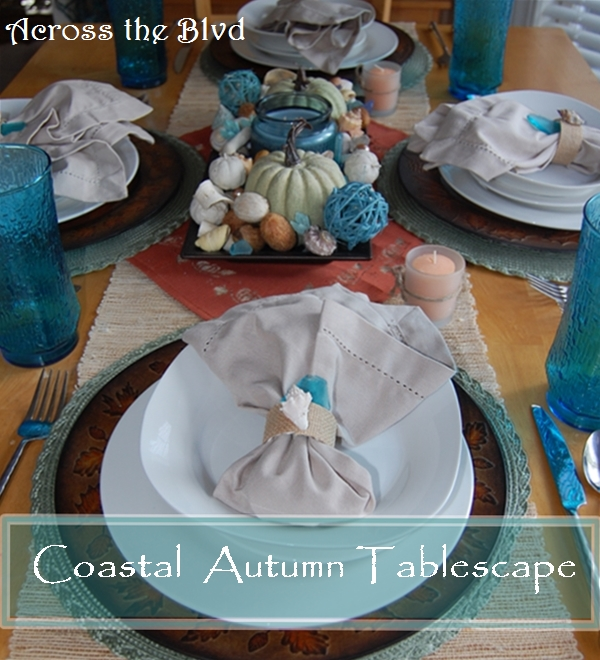 Coastal Autumn Tablescape Across the Blvd