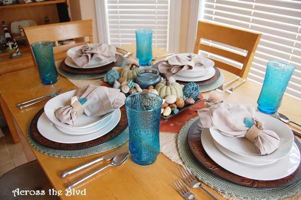 Coastal Autumn Tablescape