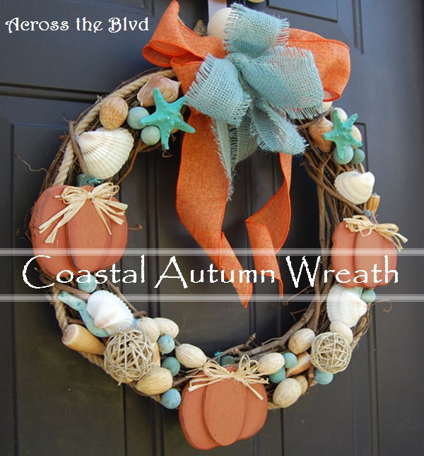 Coastal Autumn Wreath Across the Blvd