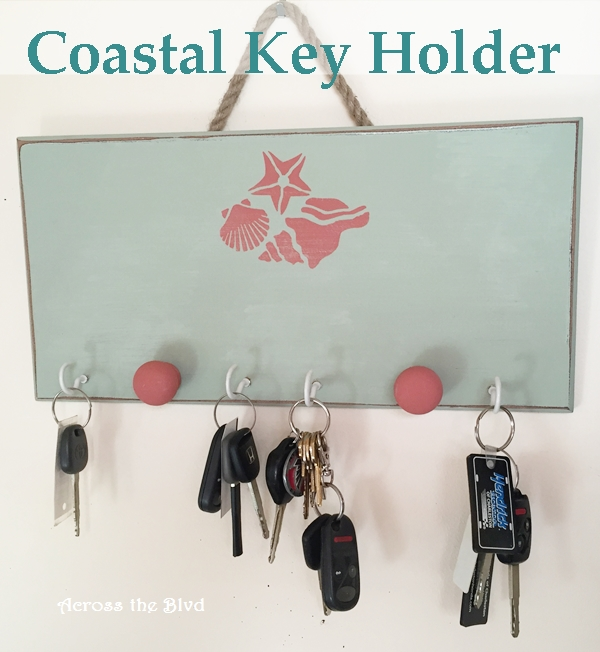 Chalk Painted Key Holder Across the Blvd
