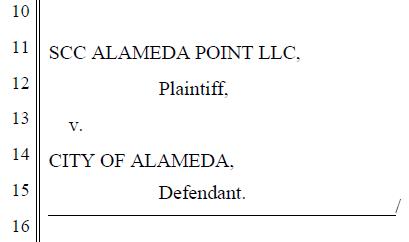 SCC Alameda Point versus City of Alameda