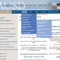 Alameda Unified School District's website has apparently been hacked with messages promoting viagra sales.
