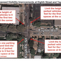 The City of Alameda Public Works Department is proposing changes to the streets around Maya Lin school to improve pedestrian safety.